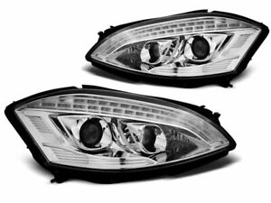 Projektor Hovedlykter Mercedes W221 05-09 Daylight Look D1S Xenon HID Chrome LPM