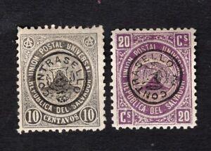 Salvador 1879 2 stamps Mi#Telegraph MH
