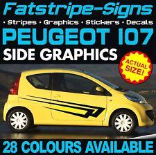 PEUGEOT 107 Strisce Decalcomanie Grafiche Adesivi per in vinile GTI Pug 1.0 1.4 CITY CAR