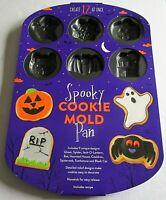 Wilton SPOOKY Cookie Mold Pan    12 Cavities  9 Unique Designs Nonstick