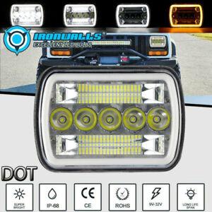 "7x6""5x7Inch 300W LED Headlight Square Hi/Lo Beam DRL For Pontiac Toyota Hilux"
