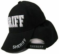 Sheriff Hat Law Enforcement Police Badge Shadow 3D Embroidered Cap