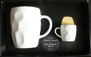 Dimpled pint tankard mug wtih mini tankard eggcup gift boxed