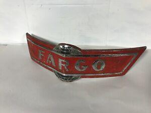 1940s CANADIAN DODGE FARGO TRUCK FRONT EMBLEM 40s