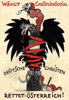 329596 Wählt Christlichsozial Deutsche Rettet Osterreich German PRINT POSTER DE