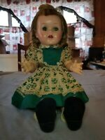 1950'S IDEAL SAUCY WALKER DOLL 16 INCH WORKING CRIER  ORIGINAL DRESS and shoes