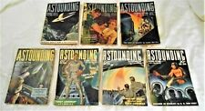 ASTOUNDING STORIES 1939 - 7 Issues VERY RARE - HardToFind -  Most VG - $149.99