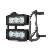 Motorbike Light Bar Headlight LED Dual Stacked for Streetfighter Project 50-51mm