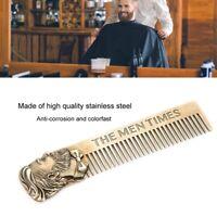 Nueva plantilla para moldear la barba Peine de barba de acero inoxidable