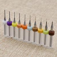 Carbide Micro   Drill Bits Set Jewelry Rotary Tool Craft 0.1mm-1.0mm 10 Pcs