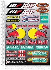 KTM WP Motorex Dunlop Sponsors Aufkleber blatt Laminiert 31 stickers exc ex 450