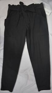 NWT Athleta $89 Size 12 Skyline Black Pant Travel Work Featherweight #292915