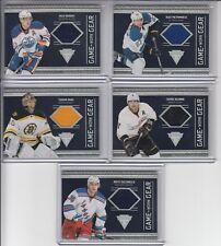 11/12 Panini Titanium Boston Bruins Tuukka Rask Game-Worn Gear GUJ card #4