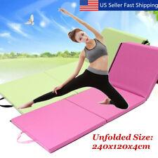 4'x8'x2''Gymnastics Gym Folding Exercise Aerobics Tumbling Play Yoga Mat 4  K
