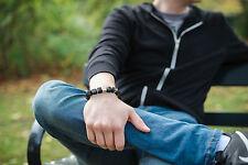 Gemstone Sterling Silver Beaded Bracelets for Men