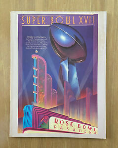1982-83 NFL SUPER BOWL XVII PROGRAM - MIAMI DOLPHINS vs WASHINGTON REDSKINS