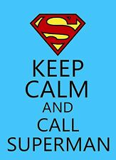 Keep Calm and call Superman STICKER DECAL VINYL BUMPER CAR Truck DC Comic steel
