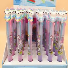 Unicorn Ballpen Ballpoint Pen 4 Pcs Set 3 Color Ink 0.5 mm