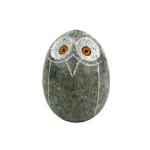 Gebrüder Lomprich Eule aus Marmor grau