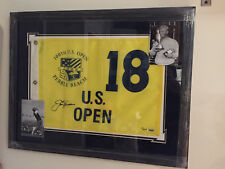 JACK NICKLAUS signed auto 2000 US Open golf pin flag matted & framed UDA #/500