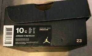Toddler Nike Jordan Jumpman 11 Retro BT 10c Black & White EMPTY SNEAKER BOX