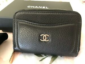 Chanel Coin Purse black leather