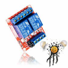 2 Kanal Channel Relais Modul 5/12V Universalrelais High/Low Optokoppler Arduino