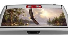 Truck Rear Window Decal Graphic [Birds / Summertime Eagle] 20x65in DC60401