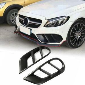 For Mercedes Benz W205 C43 AMG 15-18 Matt Front Bumper Grill Air Vent Cover Trim