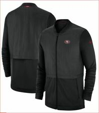 Nike Black San Francisco 49ers Sideline Elite Hybrid Full-Zip Jacket - MEN L