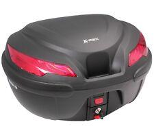 Gepäckkoffer Motorrad Koffer 50L K-MAX für 2 Helm Montagenplette Top Case Moto
