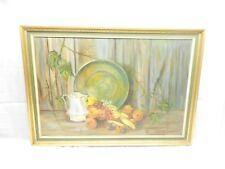 Wm BENTLEY OIL ON CANVAS FRUIT PAINTING