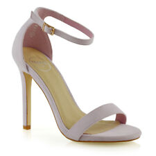 Womens Stiletto High Heel Ankle Strap Sandals Ladies Peep Toe Party Prom Shoes