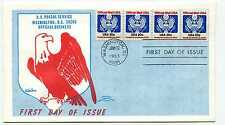 O135  20c Official coil strip of 4, Colonial FDC