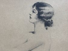 """NUDE PRETTY c1930 Signed Morris Henry Hobbs FEMALE """"Alice"""" ETCHING & DRYPOINT"""