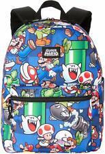 "Nintendo #SuperMario *Multi-Color* Backpack/BookBag 16""x12"" Padded Adjust Strap"