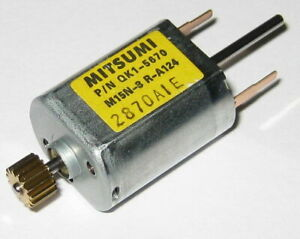 Mitsumi M15N-3 Dual 1.5mm Dia. Shaft Electric DC Motor with 15T Gear - 8 VDC