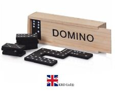 WOODEN DOMINO Game Set Toy Dominoes Novelty Kids Family Fun Christmas Gift UK