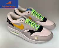 Nike Air Max 1 Daisy Flower Design CW6031-100 white yellow Men's Size 9.5