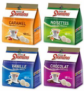 Domino Kaffeepads aromatisiert ★ Probierset ★ 72 Pads für Senseo Pads-Maschinen