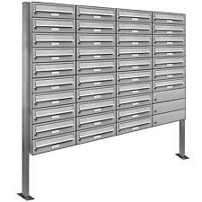 37er Premium Standbriefkasten V2A Edelstahl Anlage freistehend Postkasten design