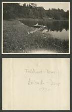 Foto Frau Faltboot Wasserwandern Loisach Isar Wolfratshausen Flußlandschaft 1930
