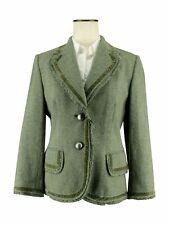 Banana Republic Women's Green Blazer w/ Velvet Trim & Fringe Details Size 8