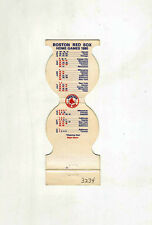 Chester Bank match cover with 1980 Boston Red Sox Baseball schedule on reverse