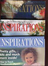Lot of 3 Inspirations World's Most Beautiful Embroidery Magazine  9  12  32