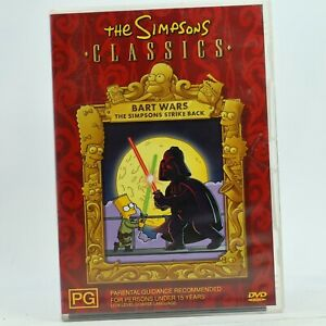 The Simpsons  Bart Wars Strike Back DVD 2004 Good Condition Free Tracked Post