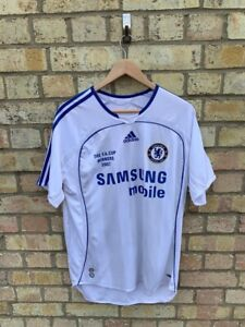 Vintage Chelsea Adidas FA Cup Winners 2007 White Official Shirt Size Medium
