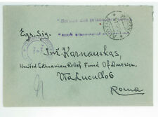 1948 Frosinone Italy to Rome Displaced Person Camp DP Cover Lithuanian Stampless