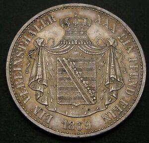 SAXE ALTENBURG (German State) 1 Thaler 1669 B - Silver - Ernst I. - VF - 690