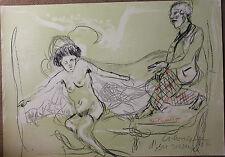 Lithographie originale de Serge KANTOROWICZ voyeur signée numérotée 1990